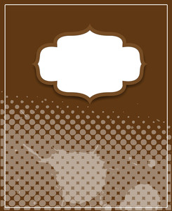 Vintage Label Halftone Template