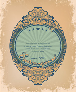 Vintage Label With Grunge Background Vector Illustration