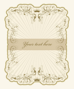Vintage Label With Rays Vector Illustration