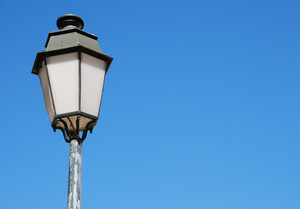 Vintage Lamp Post (blue Sky Background)