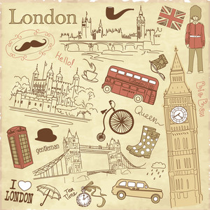 Vintage London Doodles