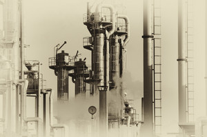 vintage look of an oil and gas industry