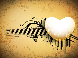 Vintage Love Background With Heart