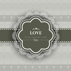 Vintage Love Background.