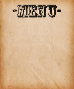 Vintage Menu Background