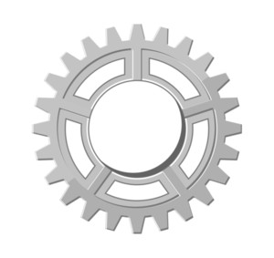 Vintage Metallic Gear Wheel