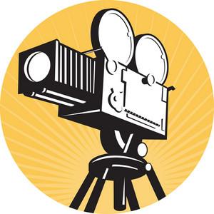 Vintage Movie Film Camera Retro Style