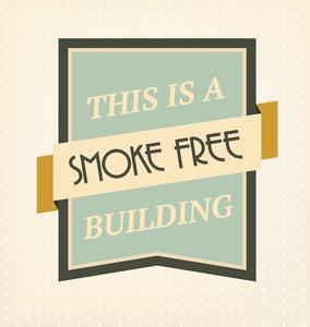 Vintage No Smoking Sign