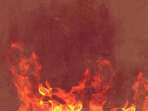Vintage Paper Grunge Flames