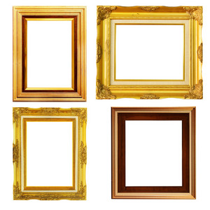 Vintage Picture Frame, Wood Plated