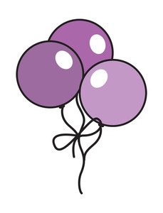 Vintage Pink Balloons