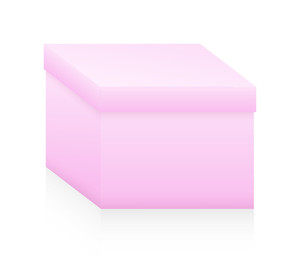 Vintage Pink Box Vector Shape