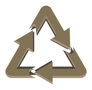Vintage Recycle Icon
