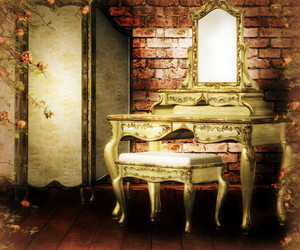 Vintage Room Premade Background