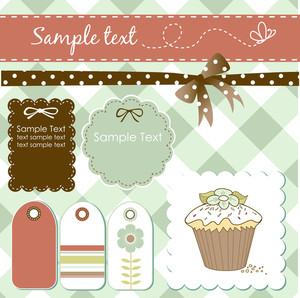 Vintage Scrap-booking Elements-
