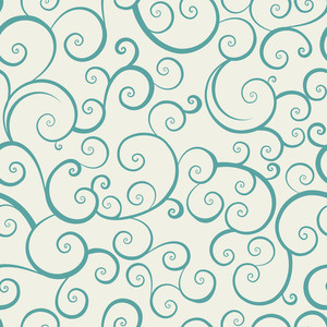 Vintage Seamless Pattern With Spiral Elements
