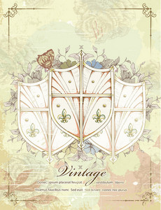 Vintage Shields Vector Illustration