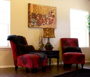 Vintage Sofa Chairs In Modern Room