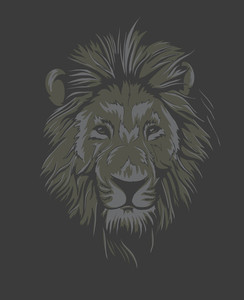 Vintage T-shirt Design With Lion Face