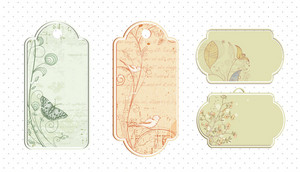 Vintage Tags Set Vector Illustration