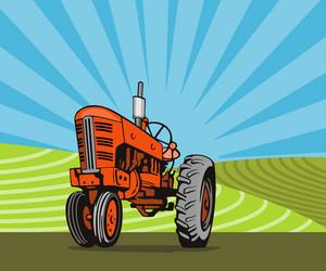 Vintage Tractor Retro