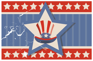 Vintage Usa Flag Theme Design Background Vector
