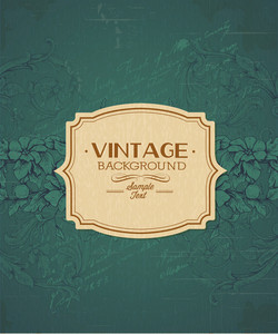 Vintage Vector Illustration With Floral Elements And Frame