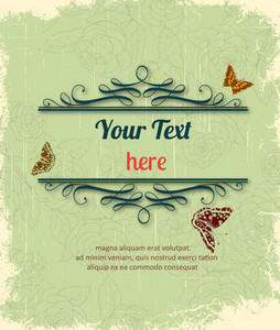 Vintage Vector Illustration With Floral Frame
