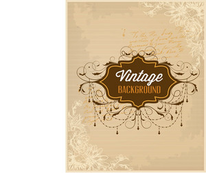 Vintage Vector Illustration With Spring Flowers And Frame