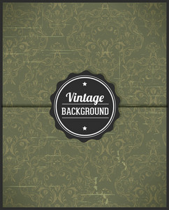 Vintage Vector Illustration With Vintage Pattern And Badge