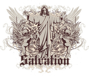 Vintage Vector T-shirt Design With Angels