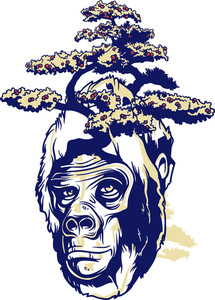 Vintage Vector T-shirt Design With Ape