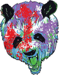 Vintage Vector T-shirt Design With Panda