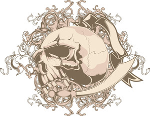 Vintage Vector T-shirt Design With Skull