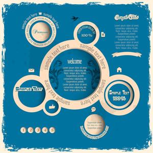 Vintage Web Design Bubbles