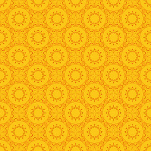 Vintage Yellow Floral Pattern