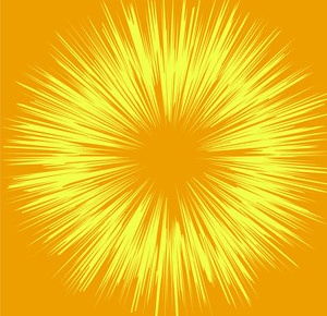 Vintage Yellow Sunburst