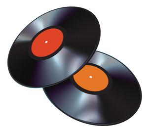 Vinyl Disks. Vector