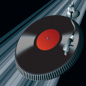 Vinyl Player. Vector