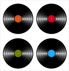 Vinyl Records Discs Vectors