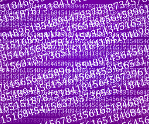 Violet Abstract Numbers Background Texture