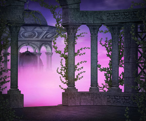 Violet Ancient Premade Backdrop