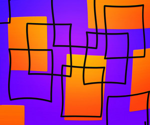 Violet Artistic Squares Background