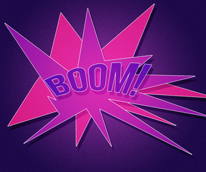 Violet Boom Vintage Background