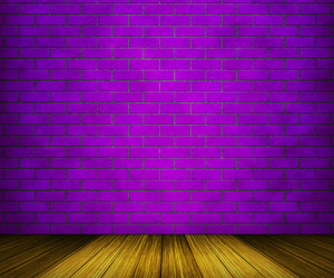 Violet Brick Room Backdrop