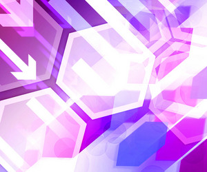 Violet Business Background Hexagon