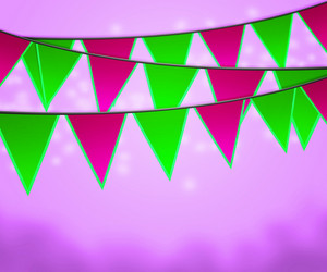 Violet Carnival Flags Background