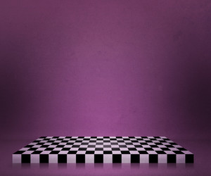 Violet Chessboard Stage Backdrop