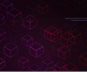 Violet Cubes Background