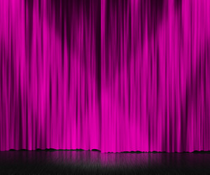 Violet Curtain Stage Background